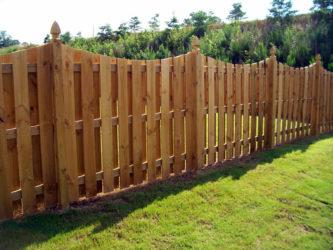 Забор из доски обрезной своими руками