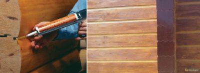 Чем заделать трещины в брусе внутри дома{q}