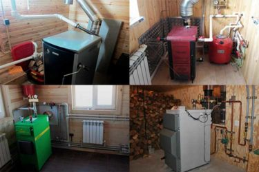 Как установить отопительный котел в деревянном доме?