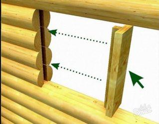 Что такое окосячка в деревянном доме?