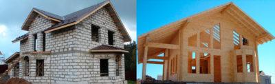Какой дом дешевле из бруса или пеноблока?