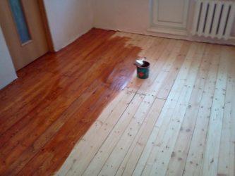 Чем покрыть шпунтованную доску на полу?